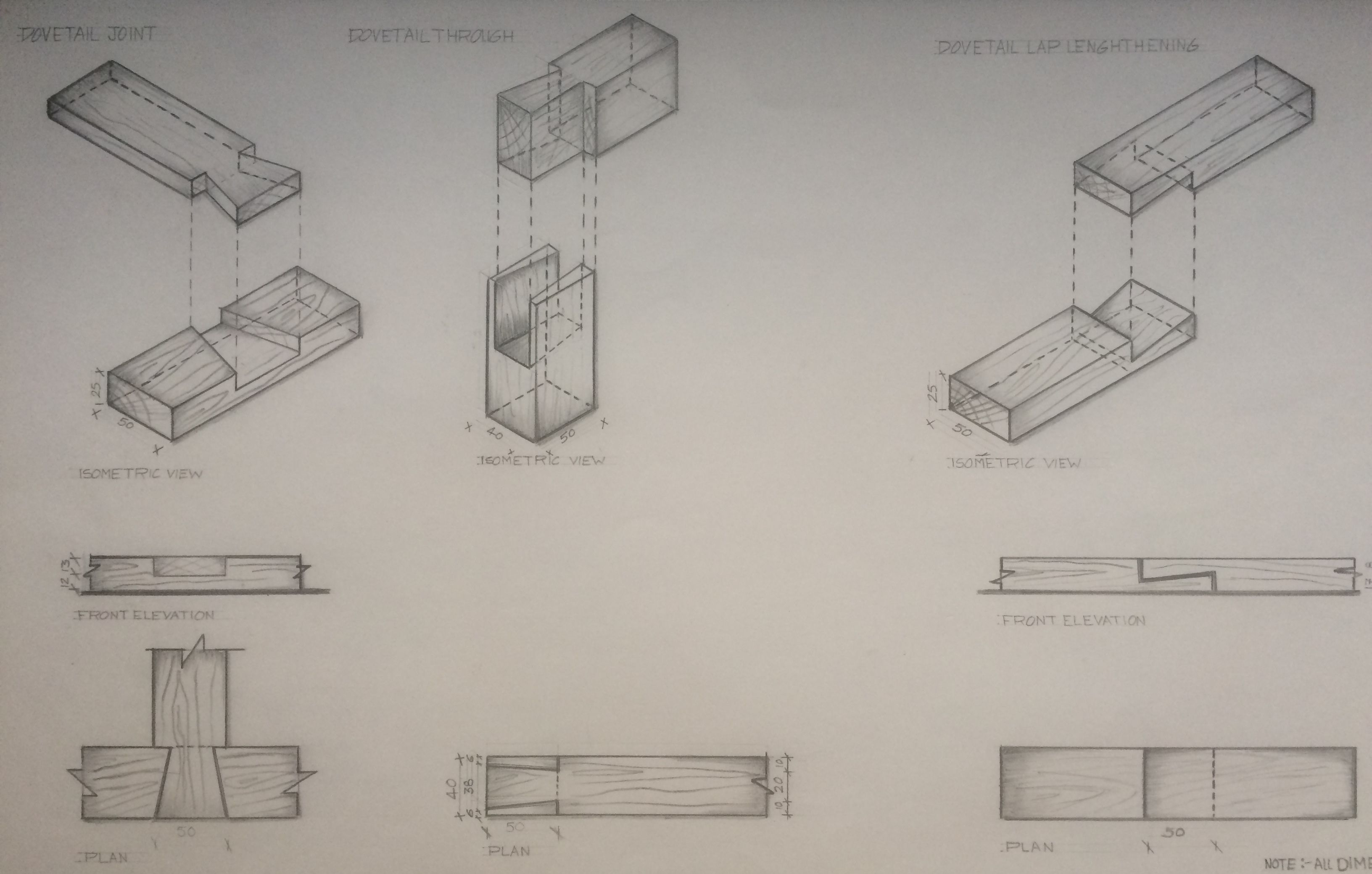 Working Drawing Of Wooden Joinery Furniture Design Sketches Wood Joinery Joinery