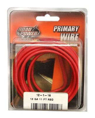 Coleman Cable 12 1 16 12 Gauge 11 Foot Automotive Copper Wire Red New Coleman 12 Gauge Wire