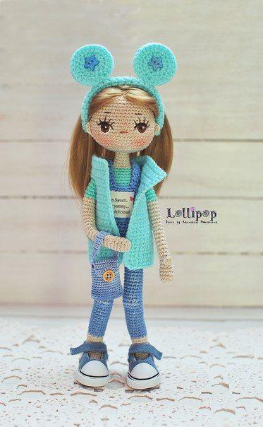 Crochet Pattern for Doll ZOEY, pdf (Deutsch, English, Français ... | 604x373