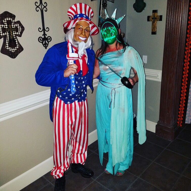 THE PURGE  ELECTION YEAR LADY LIBERTY & UNCLE SAM COSTUMES