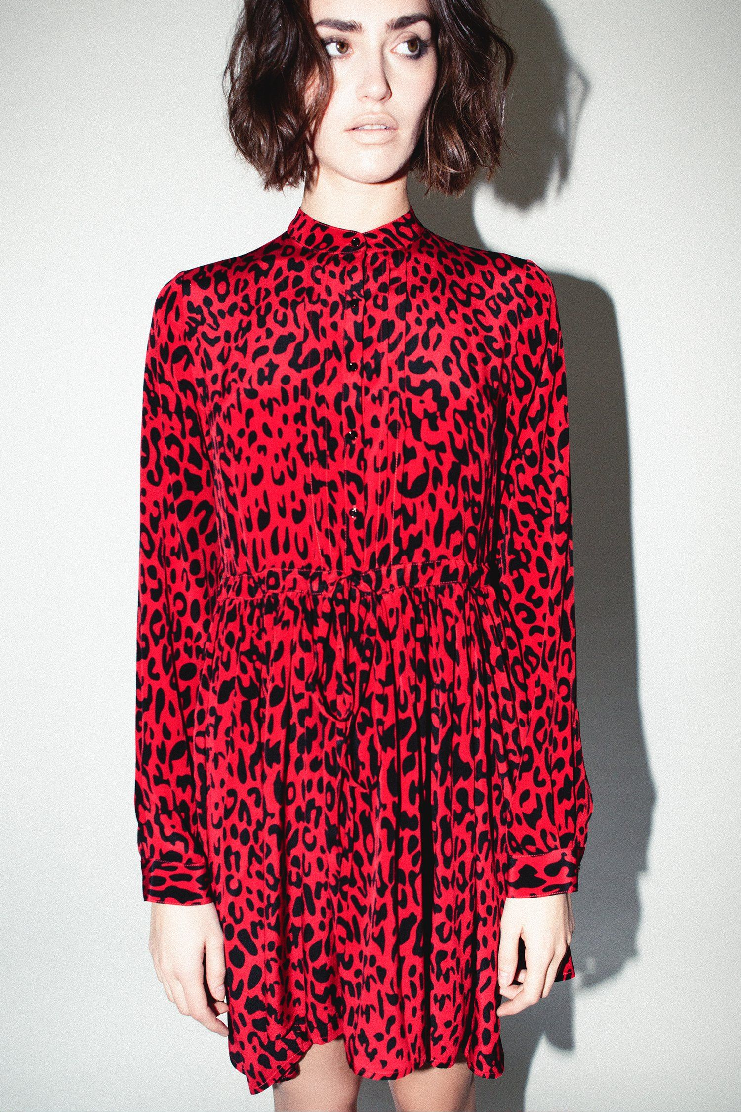 1eff7ed905 Robert Rodriguez Studio Red Leopard Print Dress