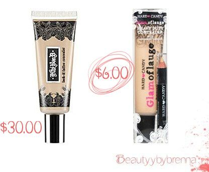 Kat Von D Tattoo Concealer vs Hard Candy\'s Glamoflauge: These two ...
