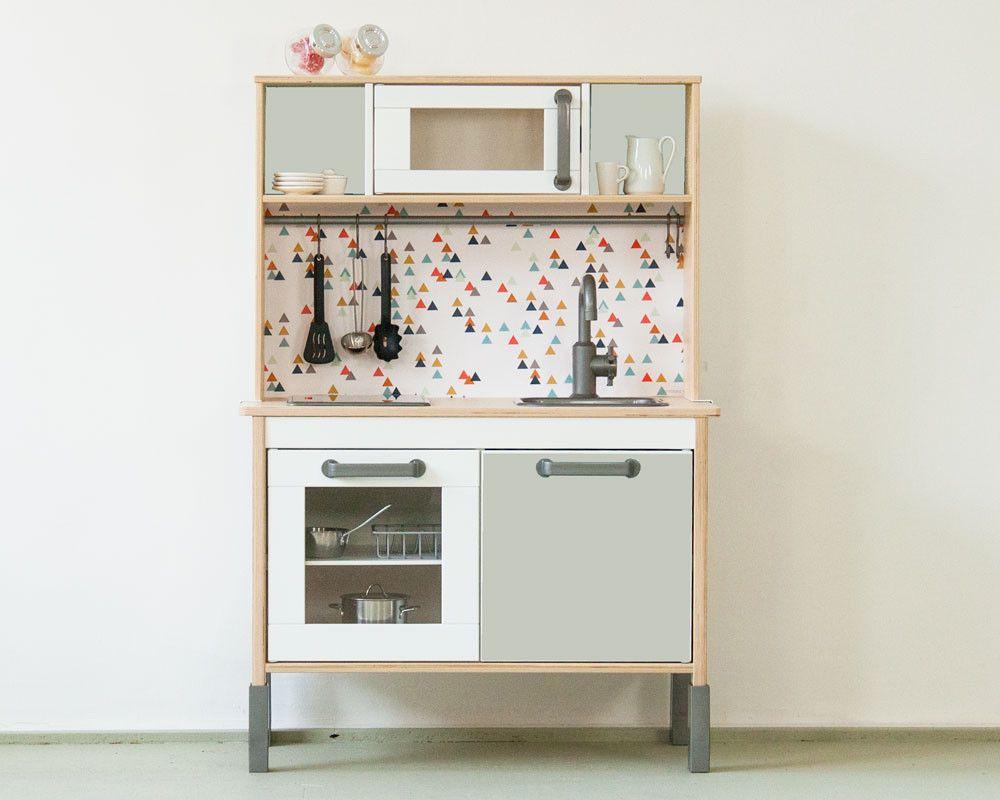 Küchenzubehör Kinderküche ~ Klebefolie rautig fuer ikea kinder kueche farbe rosa 01 home