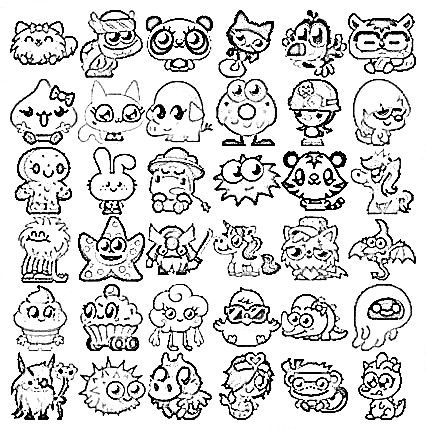 Moshling Coloring Pages 1 Places to Visit Pinterest Monsters