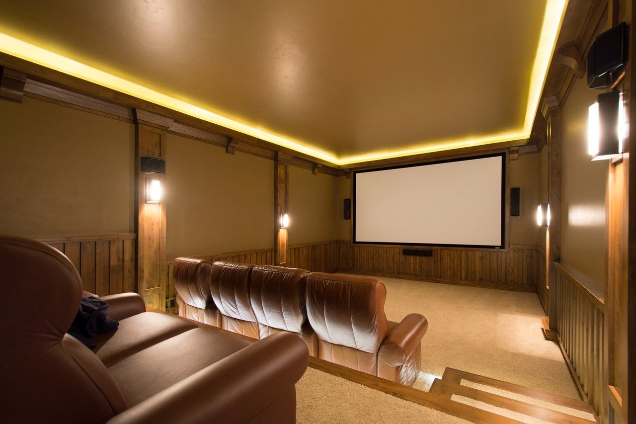A Private Mountain Home in Utah   Our Dream House   Home theater