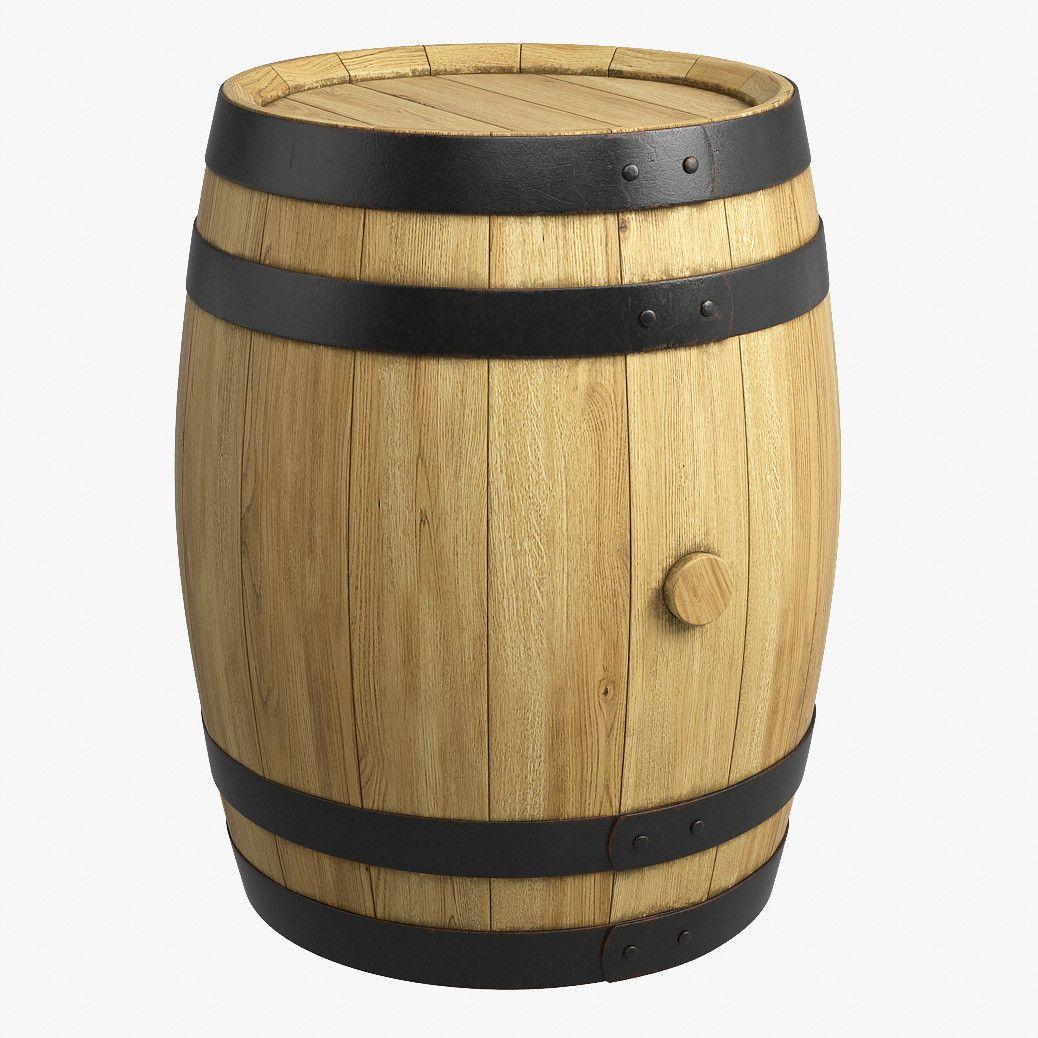 Max Wooden Barrel 3d Model Wooden Barrel Barrel Wooden