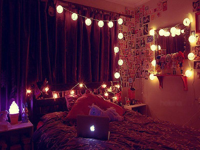 Lantern String Lights Bedroom