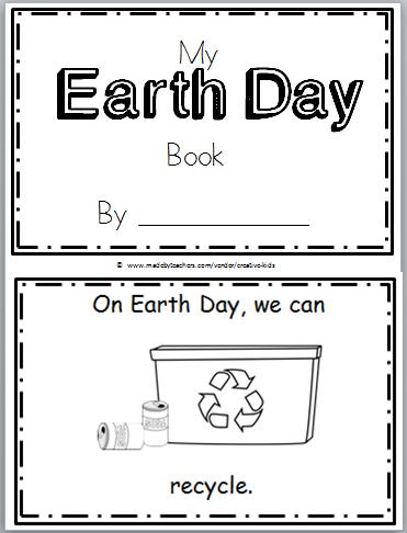 Free Earth Day Mini Book For Kindergarten Madebyteachers Kindergarten Books Earth Day Earth Day Activities