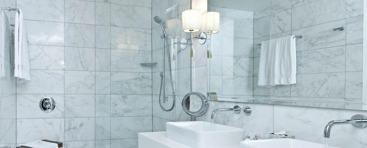 Posts About Carrara 9 18 On The Builder Depot Blog Carrera Marble Bathroom Marble Bathroom White Marble Bathrooms