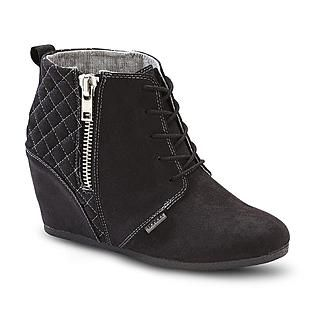 Women S Kedzie Wedge Bootie Black Boots Black Ankle Boots Bootie Boots