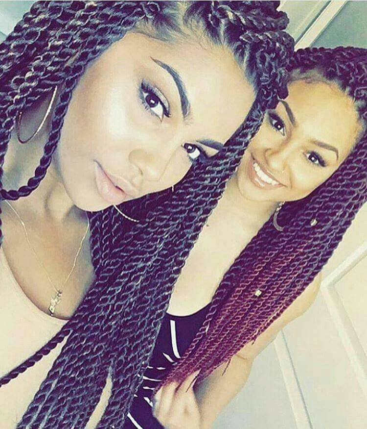 This Would Be So Cute Sisters Braid In Hair Extensions Twist Hairstyles Hair Beauty