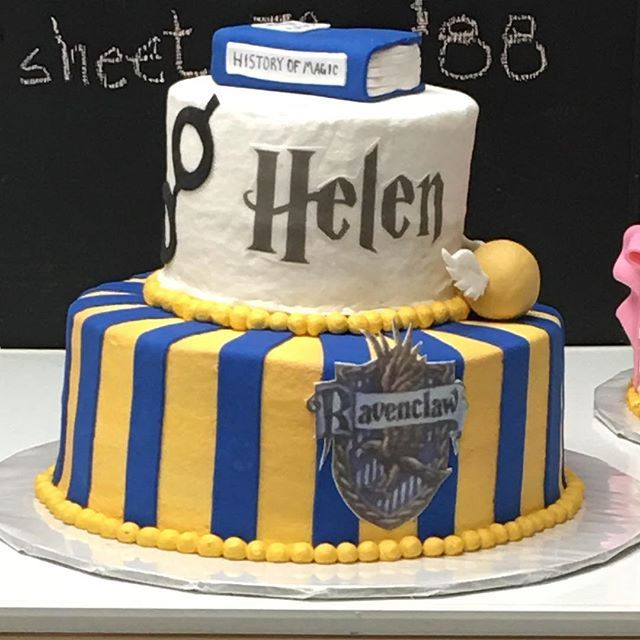 Harry Potter Ravenclaw Cake Harry Potter Desserts Harry Potter Birthday Cake Harry Potter Cake