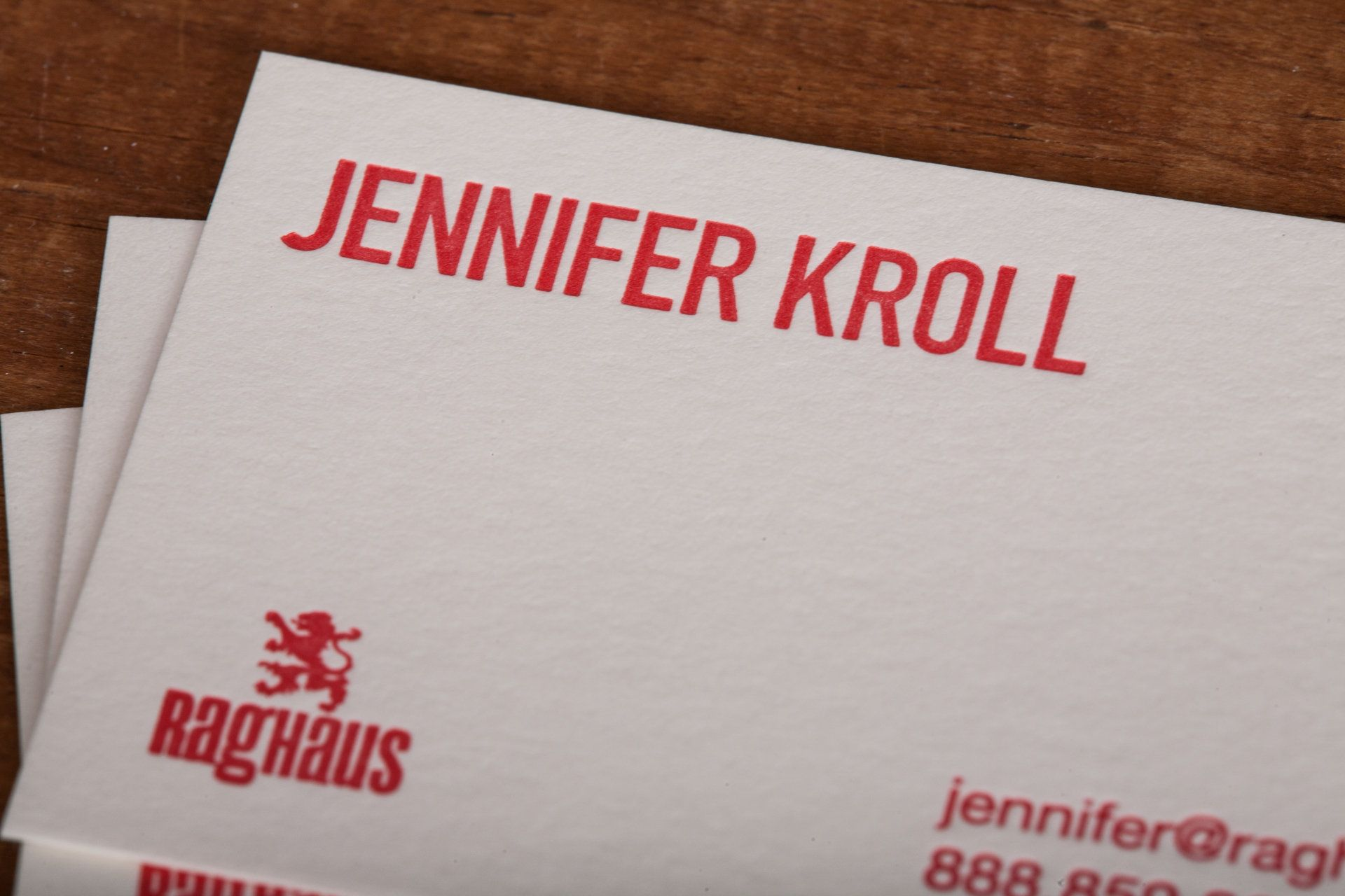 Personalized letterpress business cards (calling cards) for him or ...