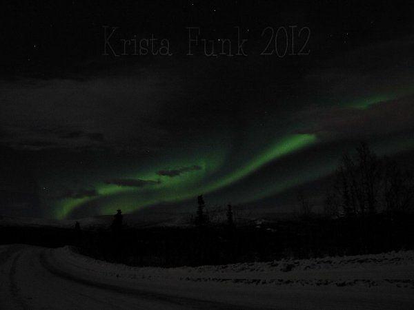 Northern Lights (Aurora Borealis) Over Whitehorse - by Krista Funk