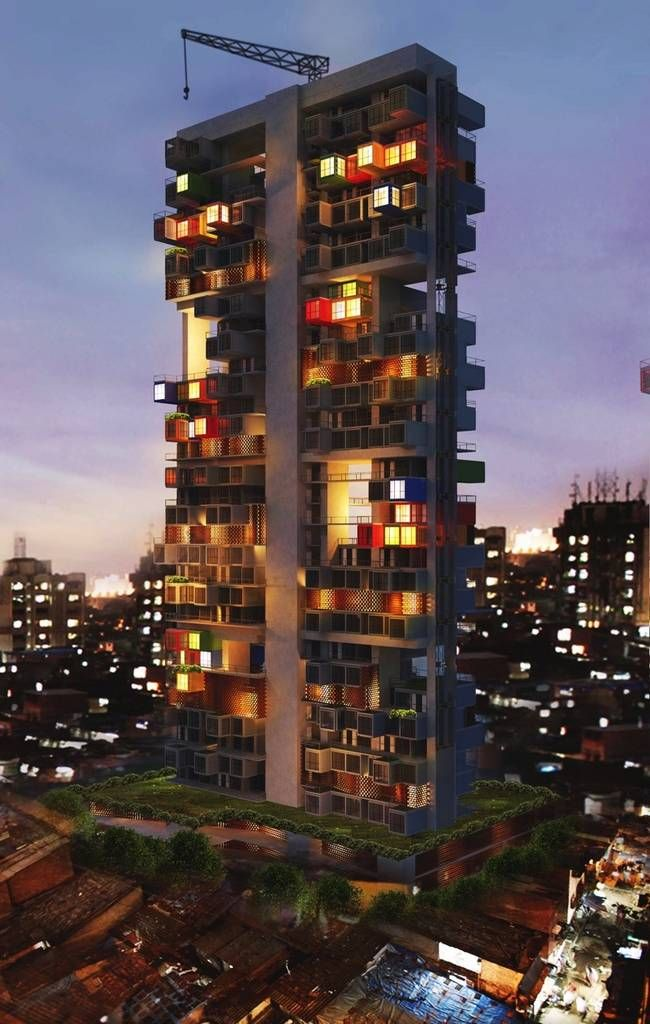 Shipping container skyscrapers proposed for mumbai tower for Immeuble en container