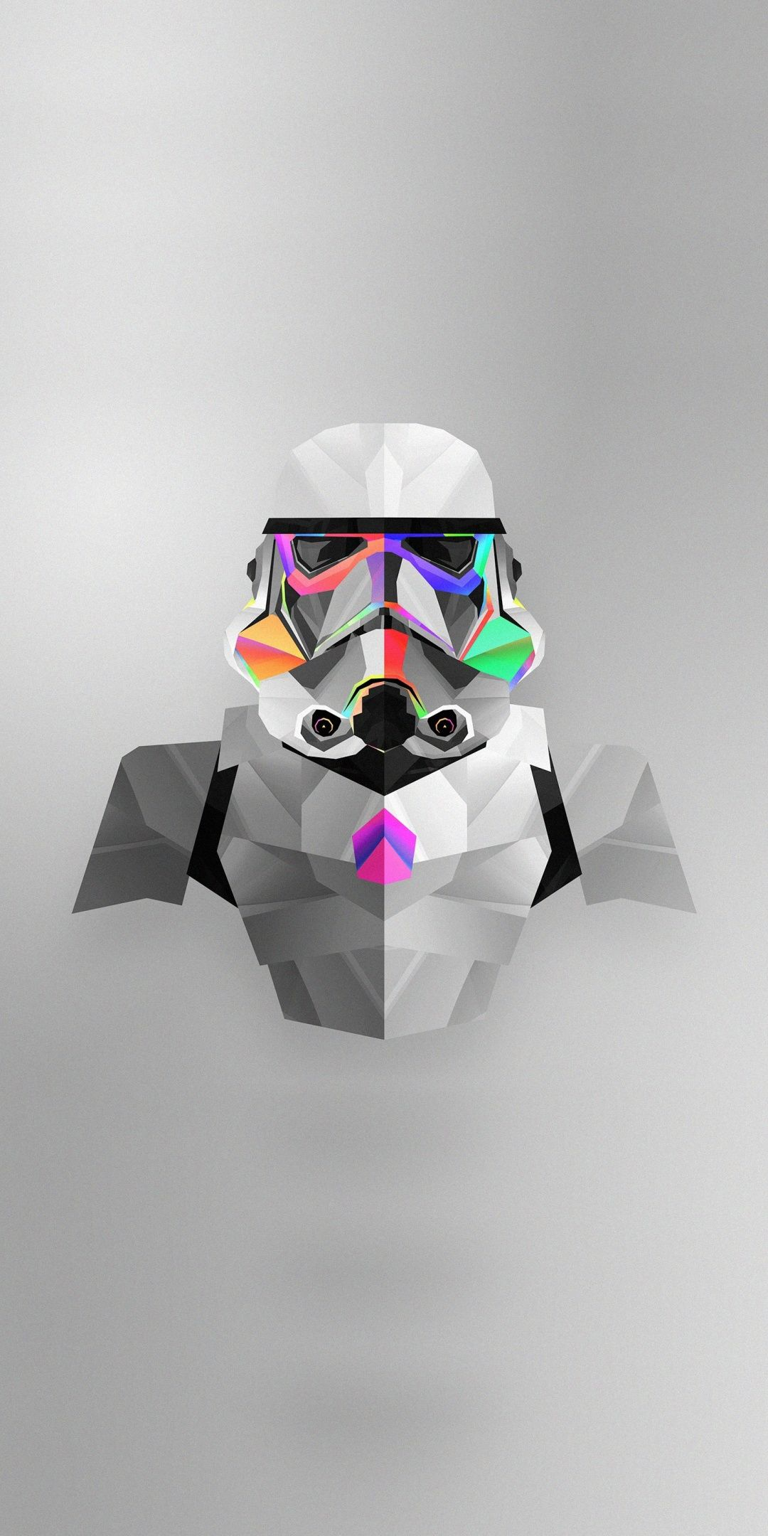 Stormtrooper Abstract Star Wars Colorful Minimal Art 1080x2160 Wallpaper Star Wars Wallpaper Star Wars Art Star Wars Trooper