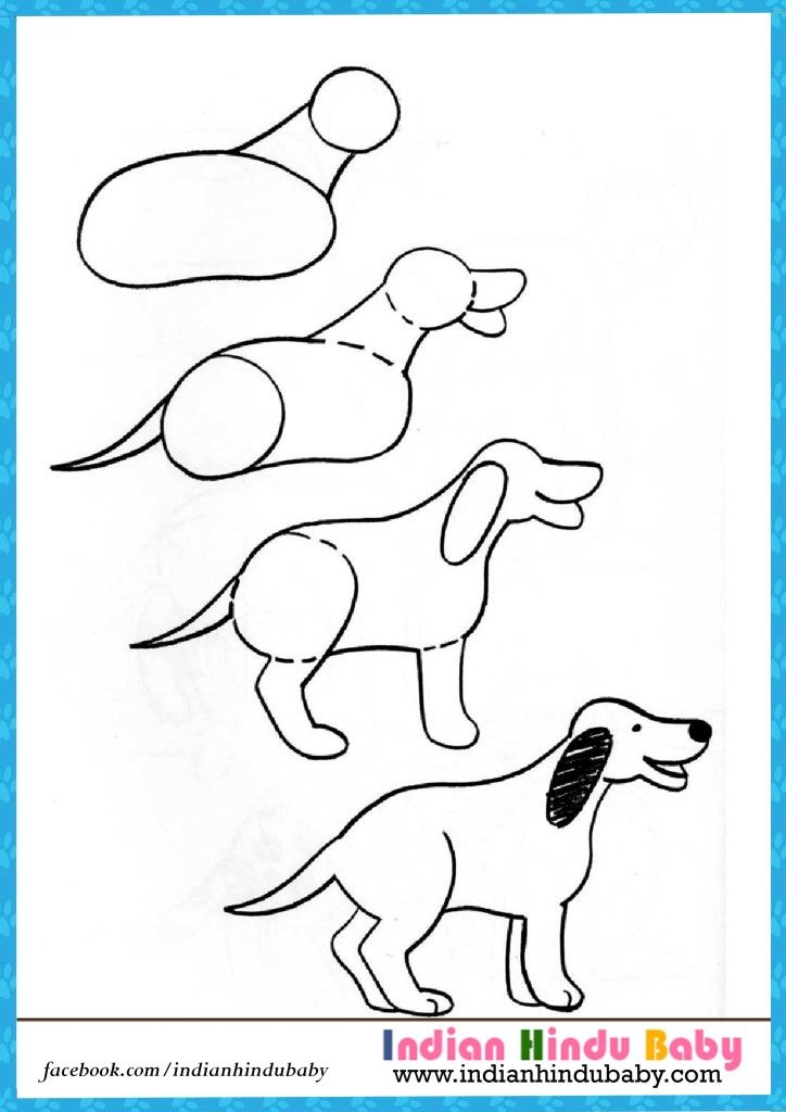 teach your kid to draw dog with simple drawing tips httpswww - Simple Drawing For Kids