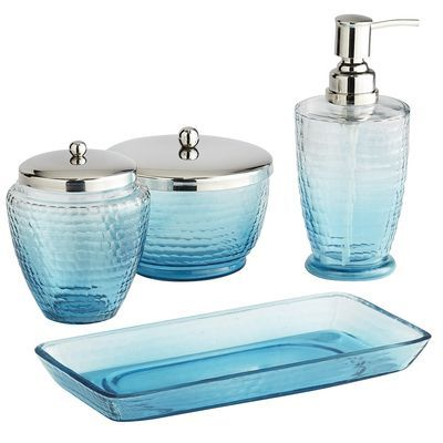 Blue Ombré Bath Accessories - contemporary - bath and spa accessories - by  Pier 1 Imports
