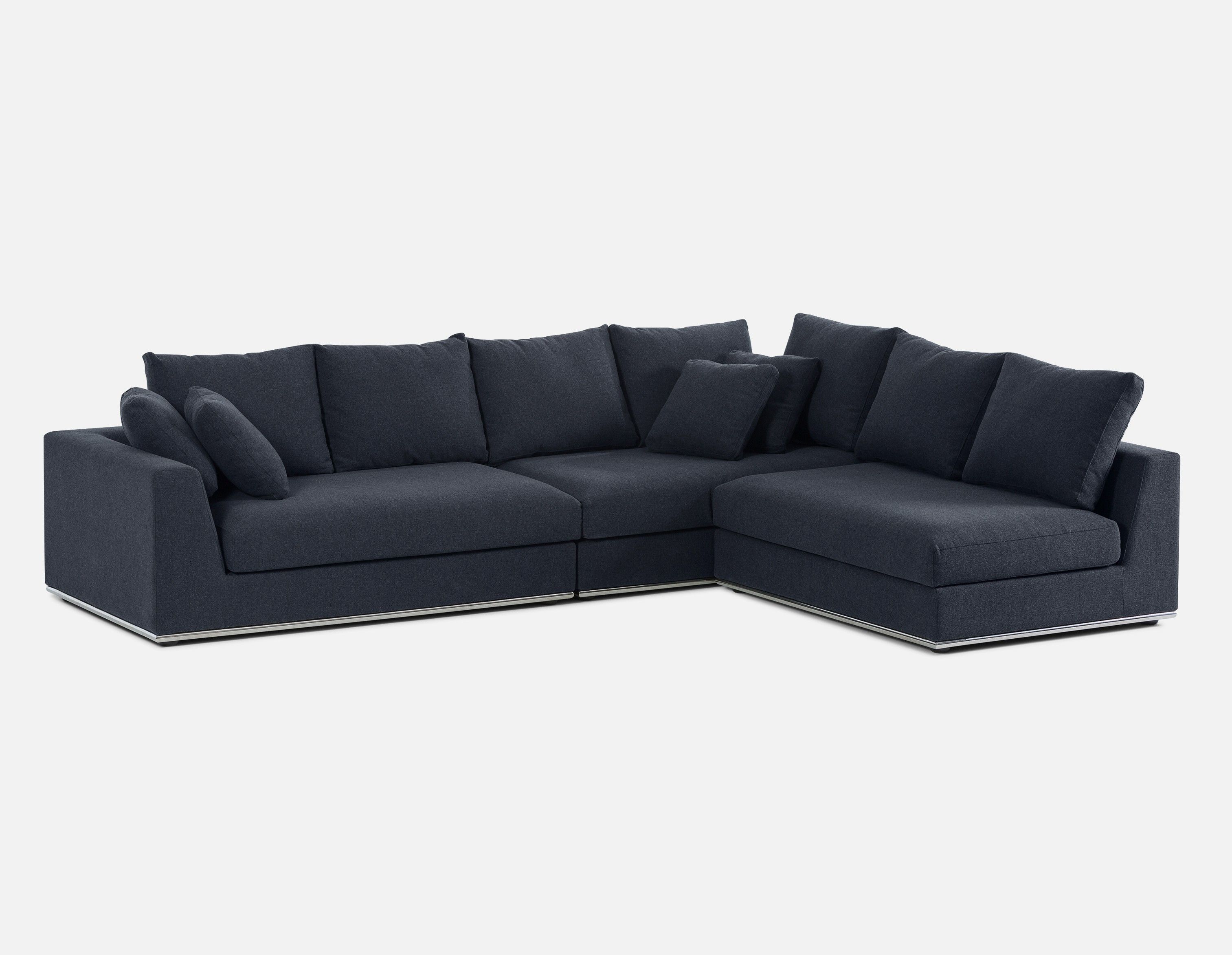 Horizon Modular Sectional Sofa Dark Blue Modular Sectional