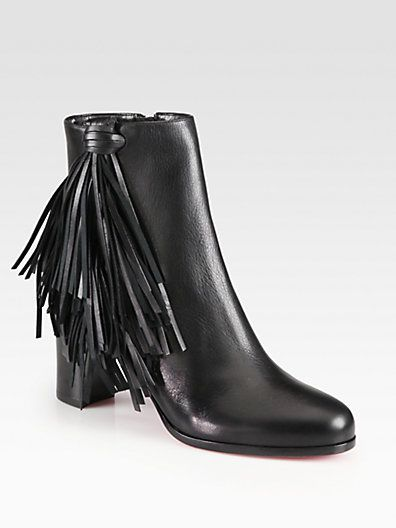 fe0a03a8bec Christian Louboutin - Jimmynetta Fringe Leather Ankle Boots - Saks ...