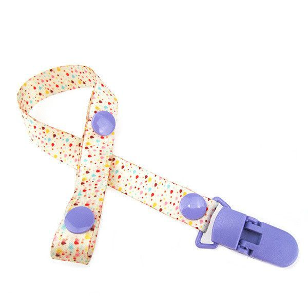 Cartoon Fixed Button Adjust Length Baby Pacifier Clip Plastic Dummy Holder Soother Chain Drop-resistant Buckle Strap Stroller