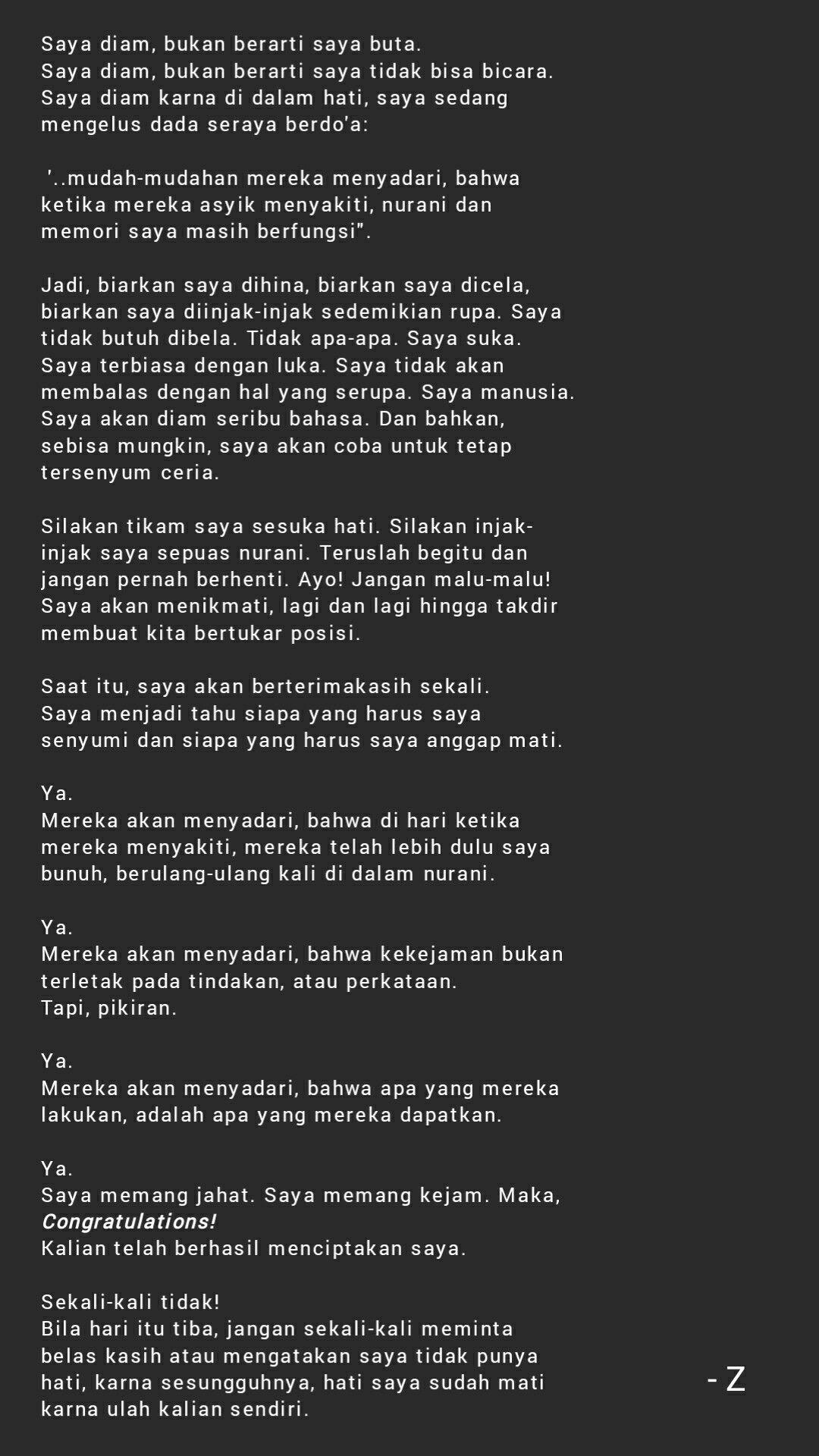 Pin Oleh Zhafir Akalanka Di Sajak Syair Puisi Akalanka
