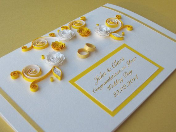 Personalised Wedding Congratulations Card Handmade By Stoykasart