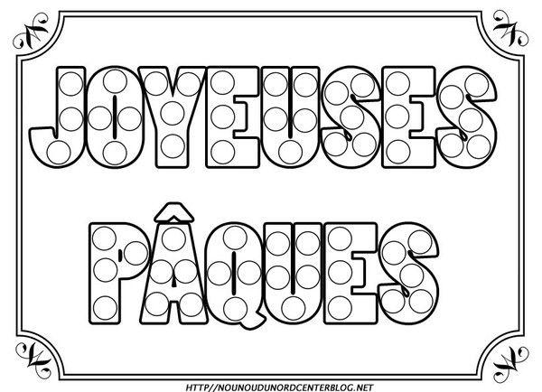 Ecriture Joyeuses Pâques Coloriagegommettescouleur Dance