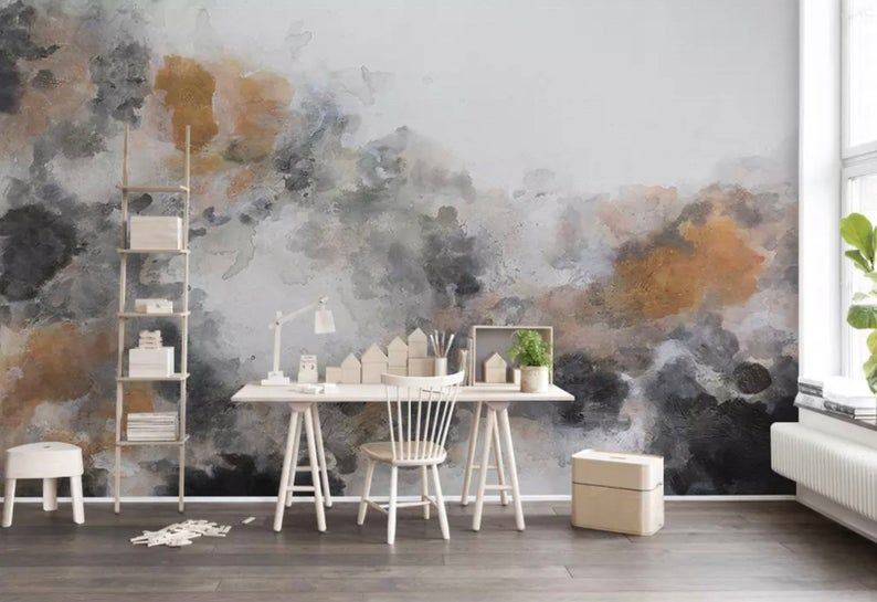 Watercolor Art Wallpaper Smoke Pattern Wall Mural Painting