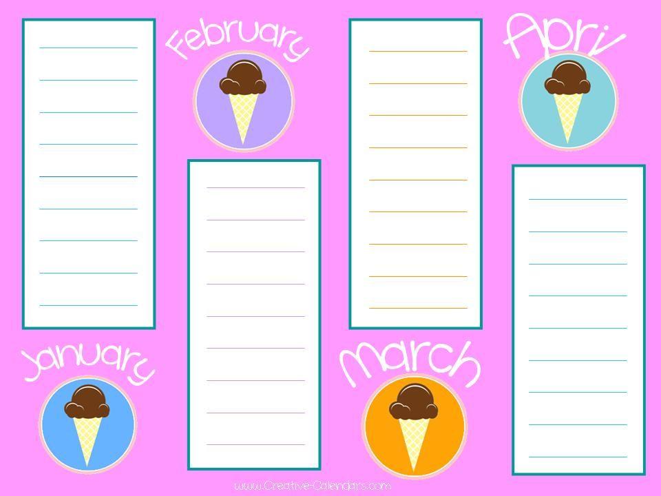 Free Printable Birthday Calendar Template Productive tools - birthday calendar template