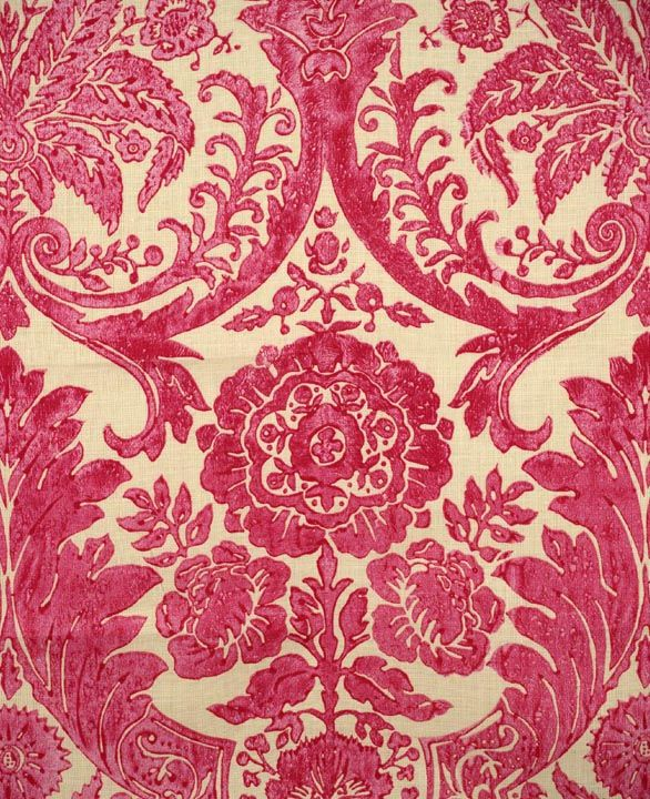 Scalamandre Luca, pink - linen print