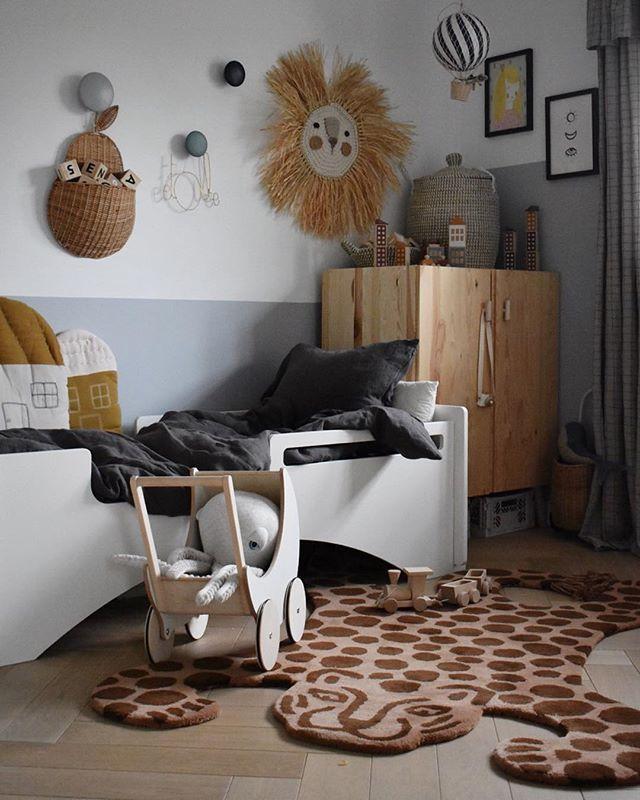 Kinderzimmer holz natur grau Kinderkamer, Peuter