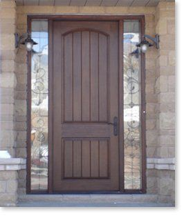 Fibergl Rustic 8 Tall Entry Door With Sidelights Like But Not Enough Light