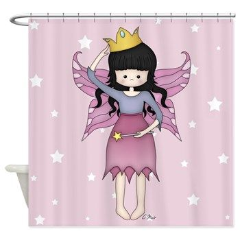 Whimsical Little Fairy Princess Shower Curtain