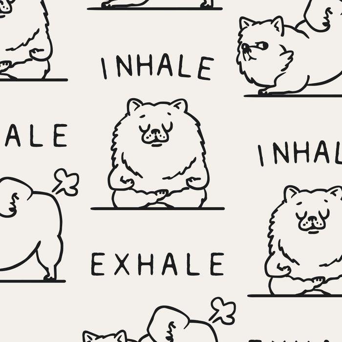 Inhale Exhale Pomeranian Leggings by Huebucket - Medium #inhaleexhale
