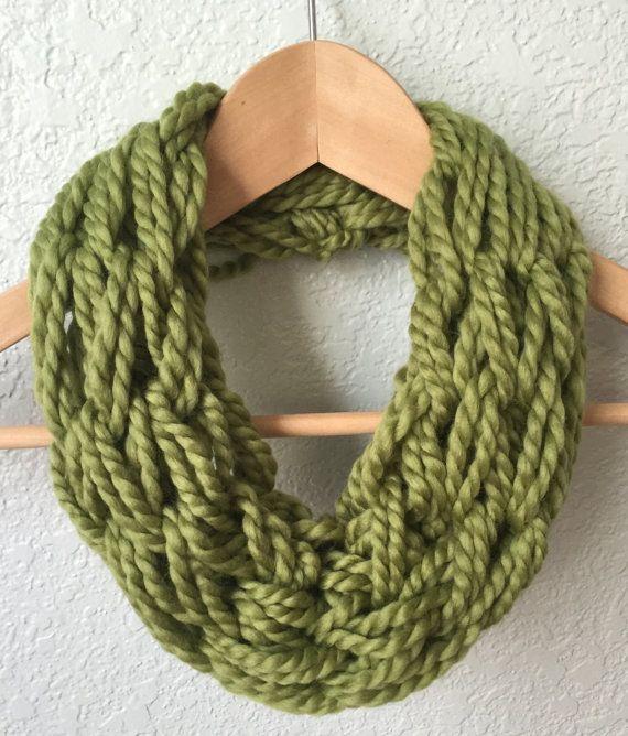 Arm Knit Scarf Fall/Winter Scarf Inifinity by ScarvesBySealey