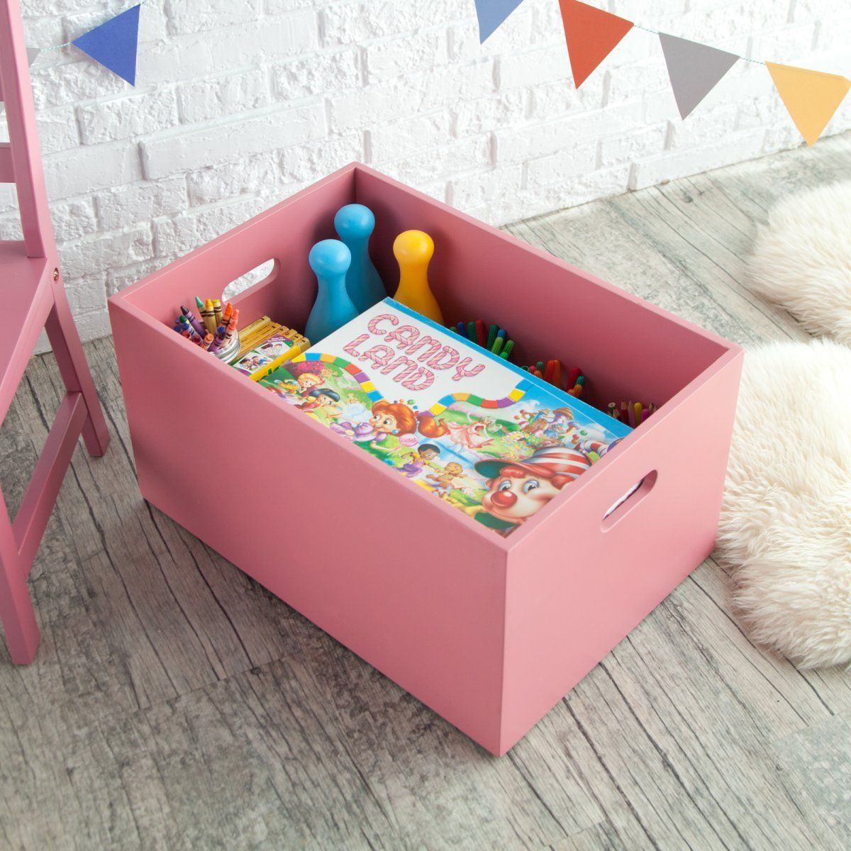 Classic Playtime Stackable Open Storage Bin   Pink Parfait   Kids