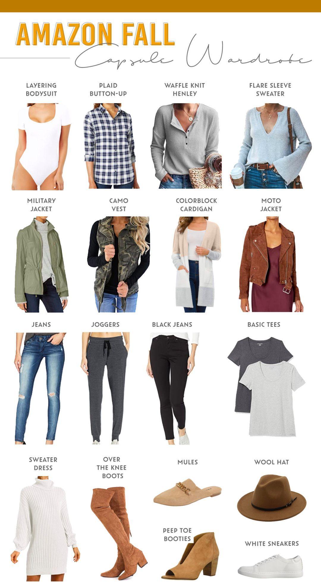 Amazon Fall Capsule Wardrobe 2020 - Pinteresting Plans