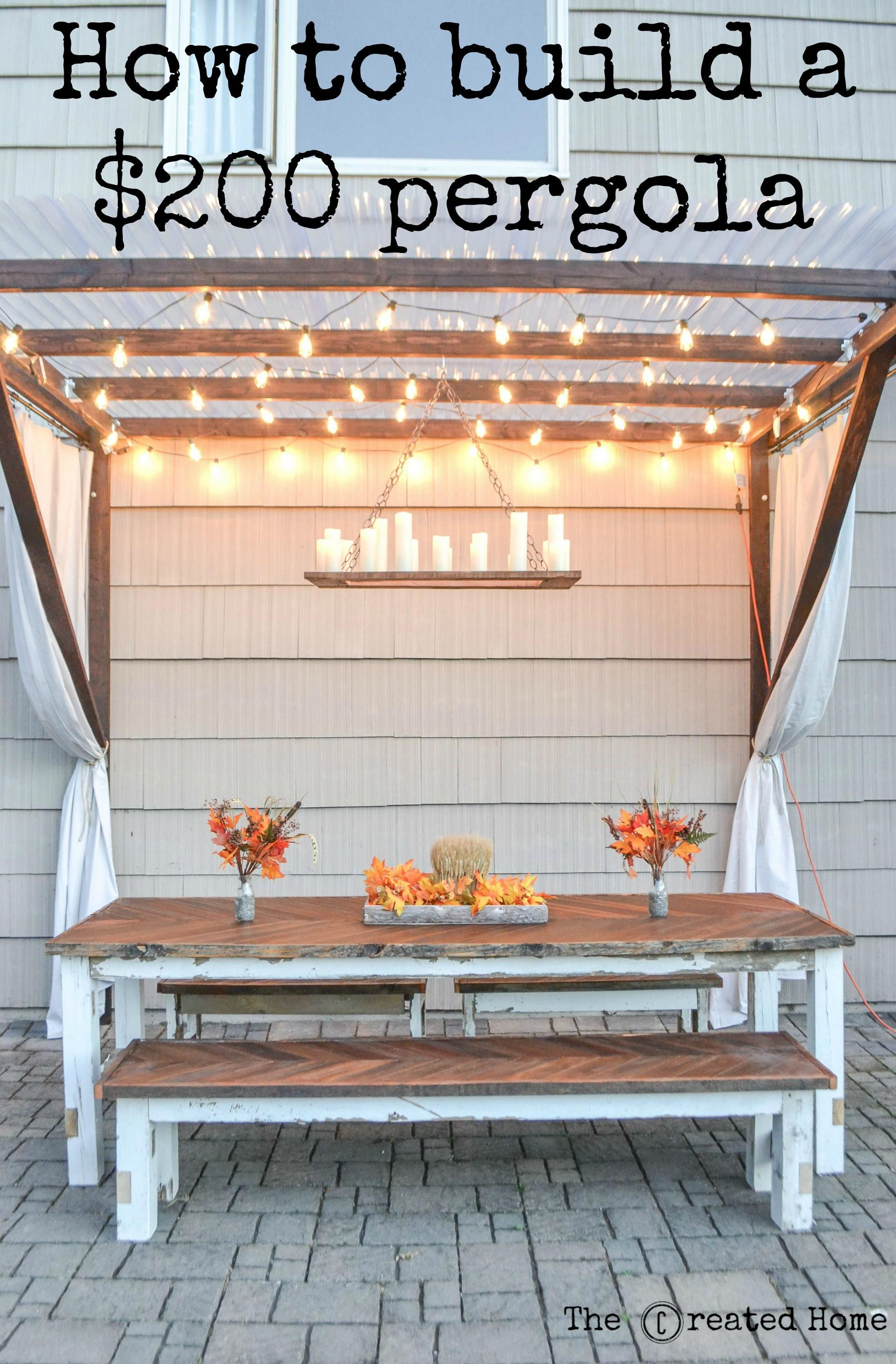 How To Build A Modified Pergola On The Cheap Buildwoodshelf