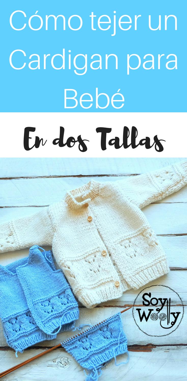 Abrigo para niños tejido en dos agujas (0-3 y 6-12 meses | Baby ...
