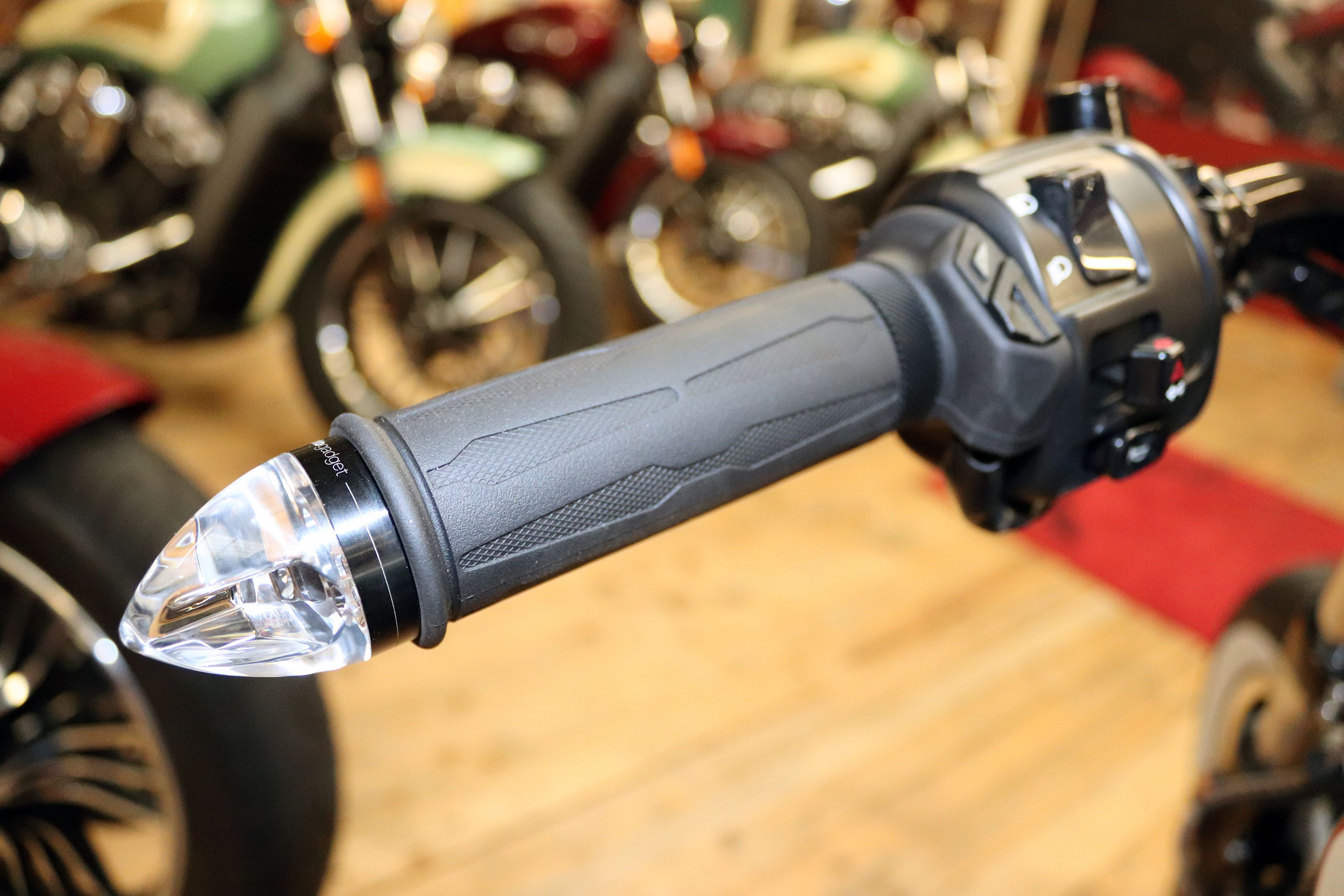 Motogadget M Blaze Cone Bar End Led Indicators Indian Motorcycle Scout Indian Scout Motorcycle Outfit [ 2268 x 3402 Pixel ]