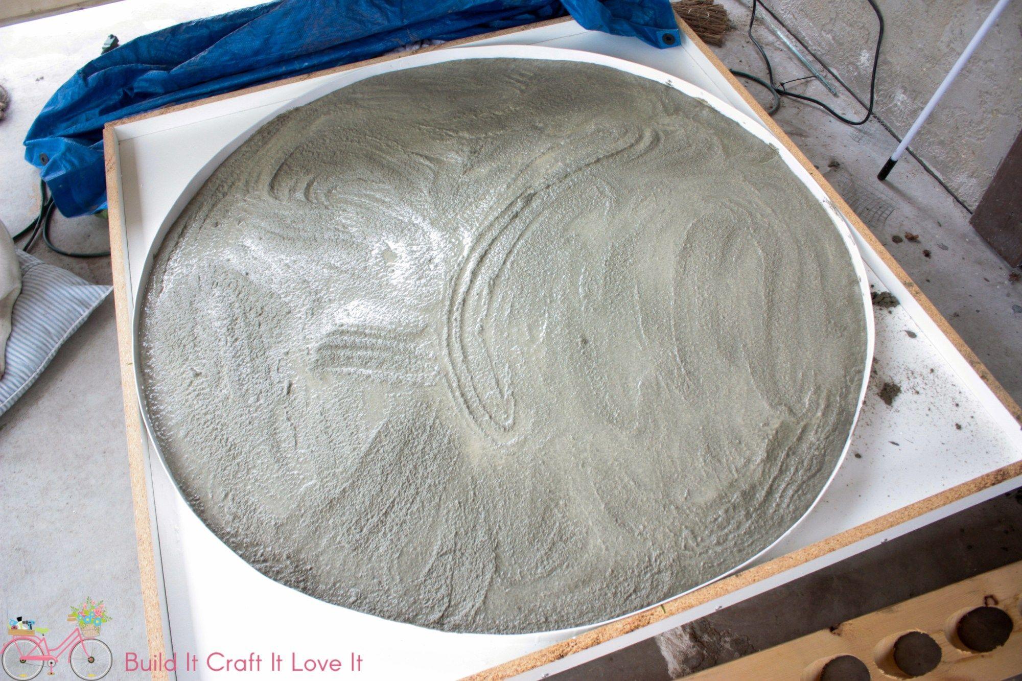 Magnificent Diy Round Concrete Table Top Concrete Concrete Table Top Pabps2019 Chair Design Images Pabps2019Com