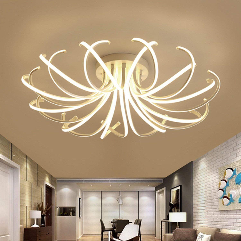 Wohnzimmer #Schlafzimmer #moderne #LED #Deckenleuchten weiße Farbe