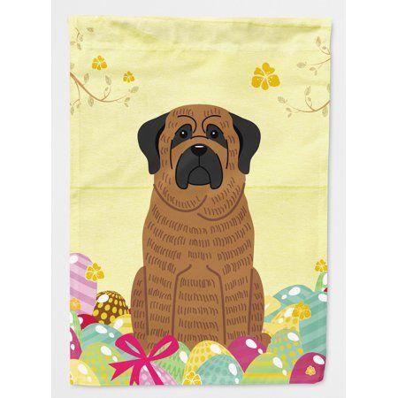 Easter Eggs Mastiff Brindle Flag Canvas House Size Flag