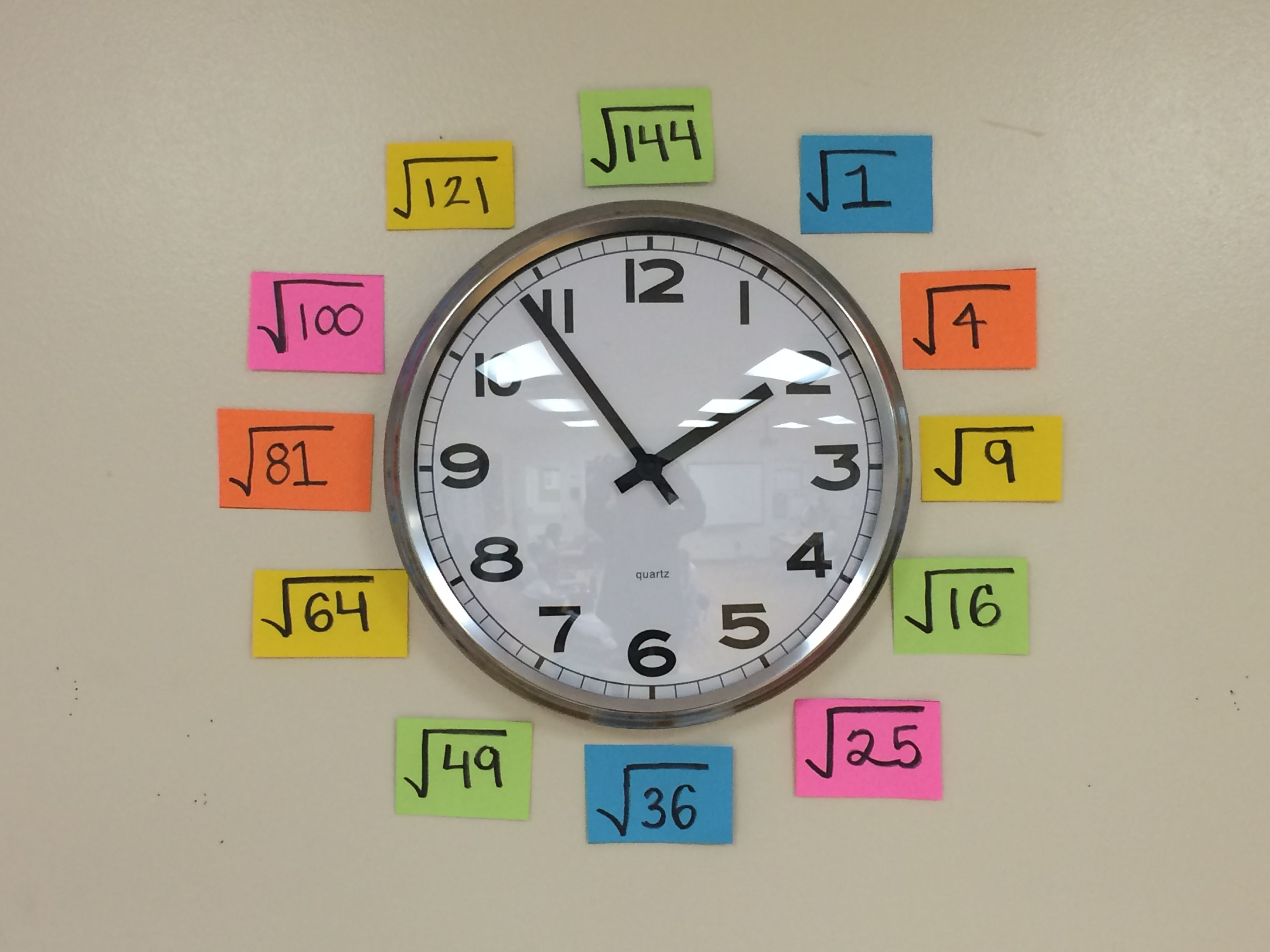 Square Root Chart Template. Use Your Classroom Clock As An Anchor Chart For  Quick Square