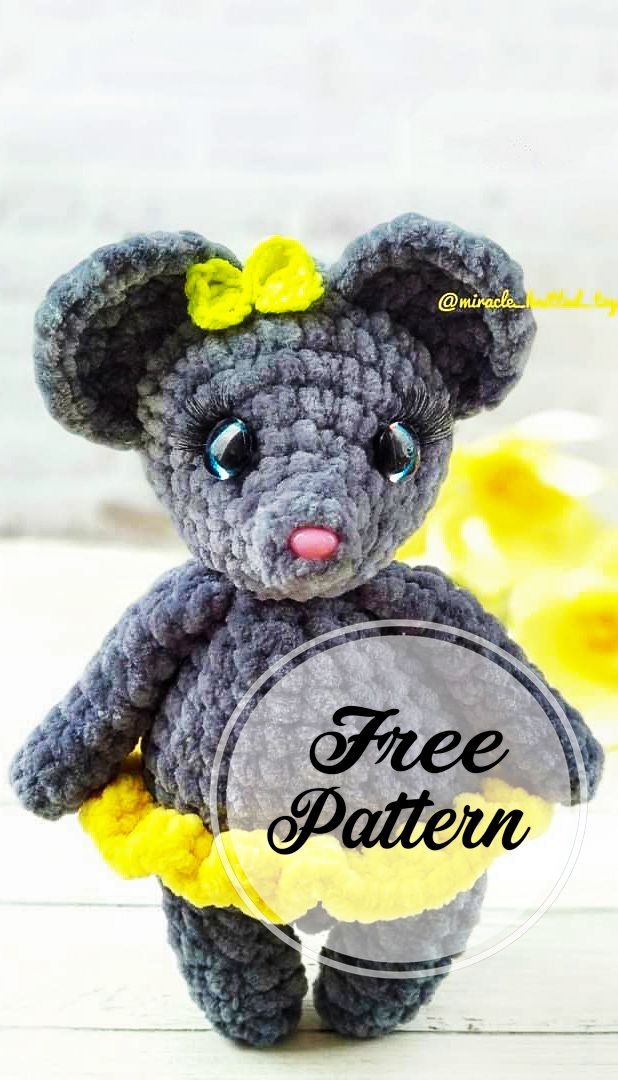Free Amigurumi Mouse Pattern for You! Grey Color