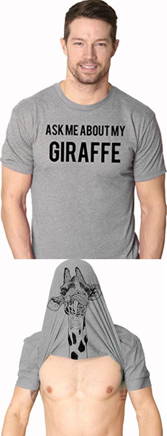 Ask Me About My Giraffe T Shirt Funny Costume Flip Up Shirt