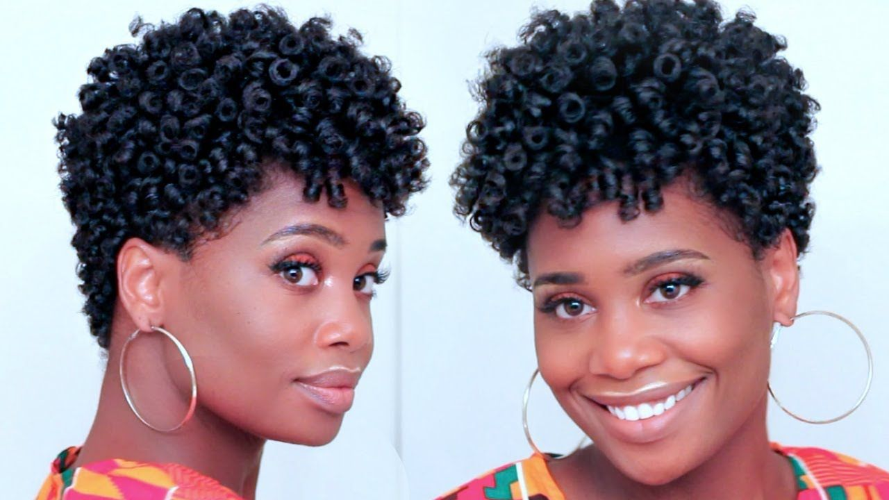 Spiral Curls On Tapered Natural Hair Video Tapered Natural