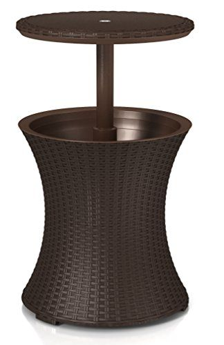 Keter Pacific Rattan Style Outdoor Cool Bar Ice Cooler