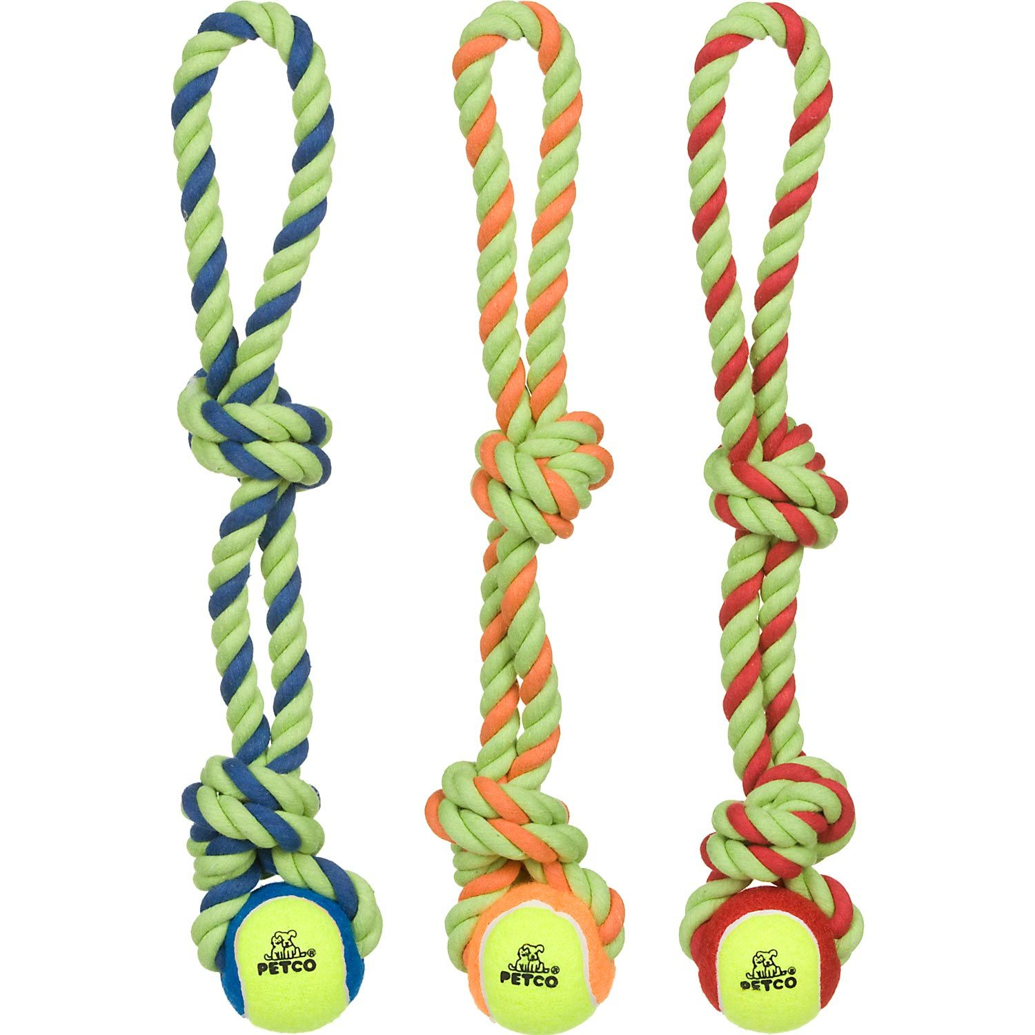 Petco Tennis Ball with Rope Tug Dog Toy Dogs Pinterest